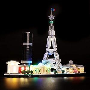 BRIKSMAX Kit di Illuminazione a LED per Lego Architecture Paris, Compatibile con Il Modello Lego 21044 Mattoncini da… Lego Outlet LEGO