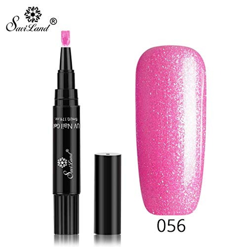 scher Nagellack,Neueste 3 in 1 Gel Nagellackstift Flash Bright Gloss One Step Nagelgel UV Nagellack 20 Farbe Watopi ()