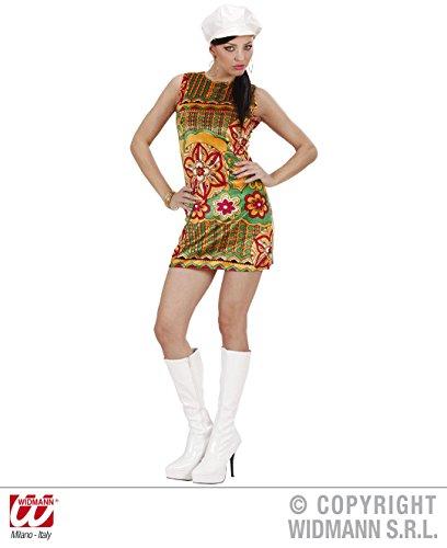 Sancto 60er Hippie-Kleid Damenkostüm orange-grün-rot S
