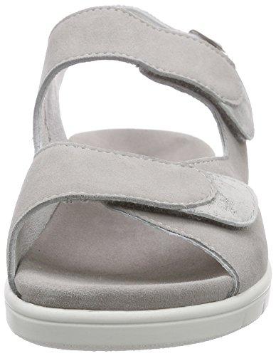 Semler Dunja, Sandales Wedge cheville femme gris (770 - perle-grigio)