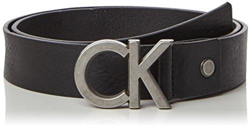 Calvin Klein Jeans CK Adj. Buckle Belt, Cintura Uomo, Nero (001), 95 cm