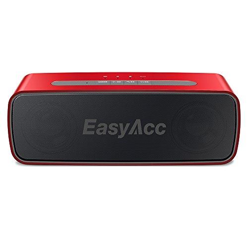 EasyAcc Kabellos Bluetooth Lautsprecher SoundX 10W 20 Stunden Laufzeit Tragbarer Bluetooth CSR 4.0 Speaker mit Mikrofon, 3.5mm AUX, Micro SD Karte Slot Farbe: Rot