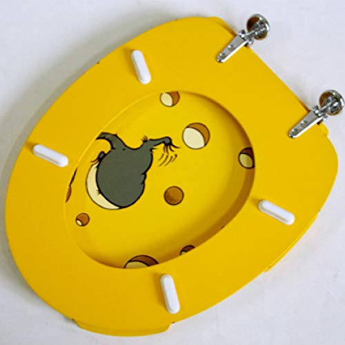 S-graceful WC-Sitze Maus Toilettendeckel Mit MDF Nicht Verlangsamen Verdicken Oben Montiertes, Ultrabeständiges, Einfach Zu Installierendes Toilettendeckel Für U/O/V-Form-WCs,A