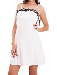 a1bb76d641ca Toocool - Vestito donna miniabito abito corto pizzo coppe svasato zip sexy  nuovo CJ-2209