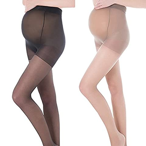 Pueri Compression Maternity Pantyhose Stretch Pantyhose Maternity Support Compression Stockings (A: Skin