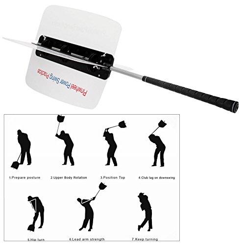1pc Golf Power Swing Fan Golf Club Schwungtrainer Trainingshilfe