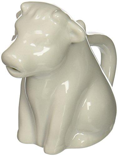 Abbott Collection sitzend Kuh Creamer, 10,2cm weiß Whiteware Serveware