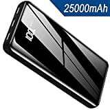 Portable Charger Power Bank 25000mAh - High Capacity with LCD Digital Display,Full Firber