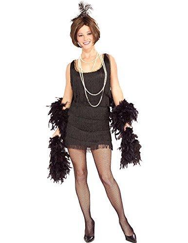 Rubie 's Offizielles Damen Chicago Flapper Erwachsene Kostüm, schwarz, Größe (Flapper Kostüm Damen Schwarzes Chicago Flapper)