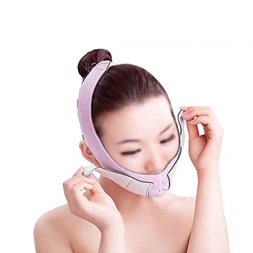 ZUCAI Gesichtskorrekturgürtel - dünner Gesichtsgürtel Schlaf dünner Gesichtsgürtel Maske V Gesichtsgabelung spezielles Gesicht dünne Gesichtsmaske Ferne Infrarot-Puderfaser passen perfektes Gesicht -