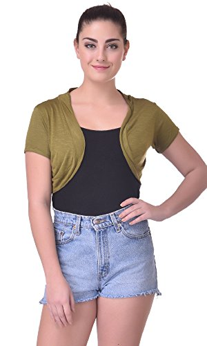 Trend18 Viscose Military Small shrug - Military Medium  available at amazon for Rs.199