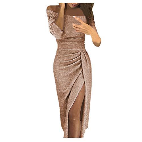 iHENGH Damen Frühling Sommer Rock Bequem Lässig Mode Kleider Frauen Röcke V-Ausschnitt Plaid, figurbetontes Kleid Langarm Minikleider(Orange, M)