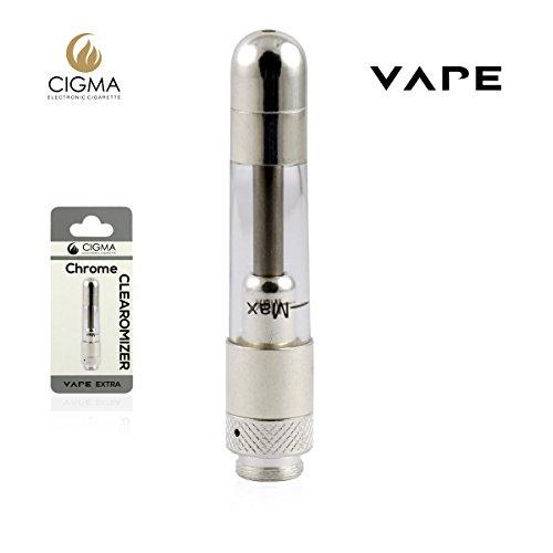Cigma Vape Clearomizer Für Extra Batterie, Nachfüllbarer Clearomizer, Ohne Nikotin, Chrom