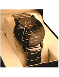 ATTRACTIONZ Kitcone Analogue Metal Black Strap Multicolour Dial Women's Watch