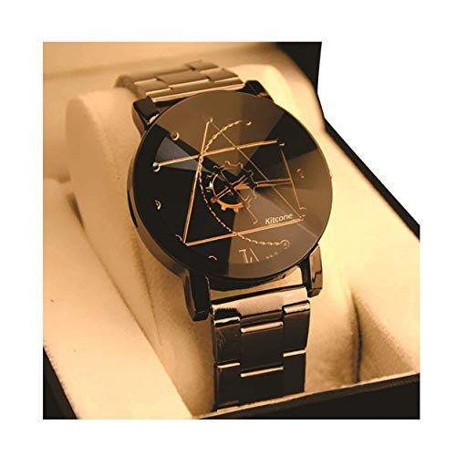 Micacchi Analogue Multicolour Dial Metal Black Strap Diamond Cut Glass Women's Watch