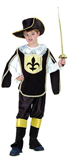 Costume Moschettiere nero oro bambino 7 a 9