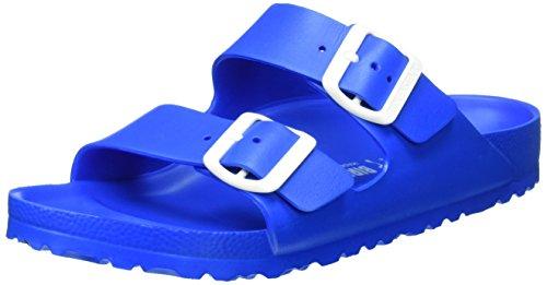 Birkenstock Unisex-Erwachsene Arizona Eva Pantoletten, Blau (Scuba Blue), 39 EU