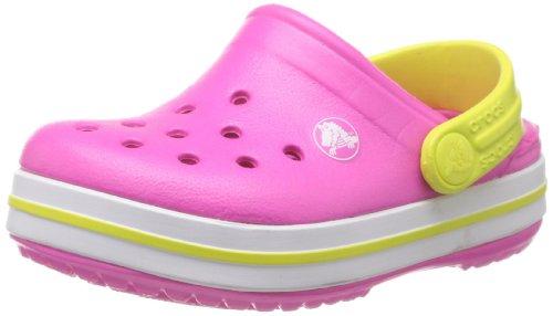 Crocs Crocband Kids, Unisex - Kinder Clogs, Pink (Neon Magenta/Citrus), 32-33 EU (Jungen Crocs Kleinkind)
