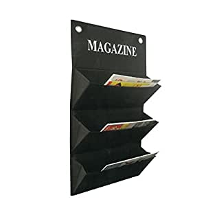 more design magazine porte revue mural tissu noir amazon. Black Bedroom Furniture Sets. Home Design Ideas