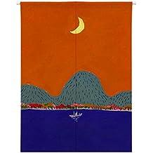 Vorhänge Das Meer Der Mond Schönheit Halber Vorhang Schatten Wind  Baumwollleinen Trennvorhänge Schlafzimmer Küche Dekoration Ohne