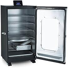 Klarstein Flinstone Horno ahumador • Horno eléctrico 650 W • Regulador temperatura: 37-136 °C • 4x parrillas acero inox. • Bandeja antigoteo • Película polvo protector • Interior galvanizado • Negro