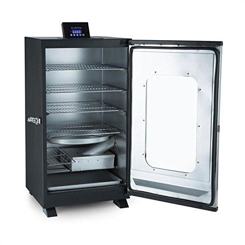 Klarstein Flinstone Horno ahumador - Horno eléctrico 650 W, Regulador temperatura: 37-136 °C, 4x parrillas...