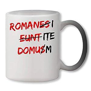 PasTomka Romani ITE Domusm Romanes Eunt Domus Heat Mug Color Changing Cup Farbwechsel Tasse