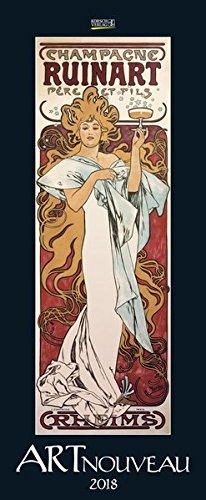 Art Nouveau - vertikal 2018: Kunstkalender mit Jugendstilplakaten der Belle Époque. Wandkalender im...