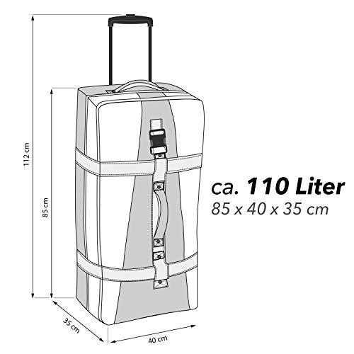 BoGi Bag Unisex– Erwachsene Reistrolley 110 Liter-Rot/Schwarz Reisetasche 85 cm - 9