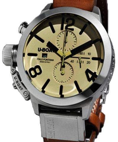 u-boat classico orologio automatico, tungsteno, 45mm, cronografo, 7431/a