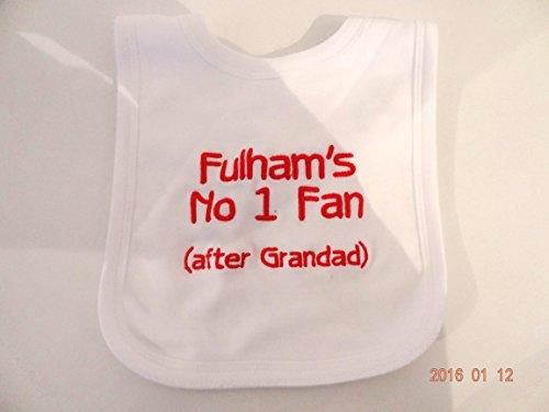 Personalisierte Baby Lätzchen–Fulham FC–Fun Geschenk–wunderschön bestickt–Name Can Change