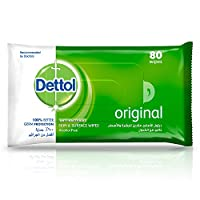 Dettol Original Anti-Bacterial Multi Use Wipes - Pack Of 80