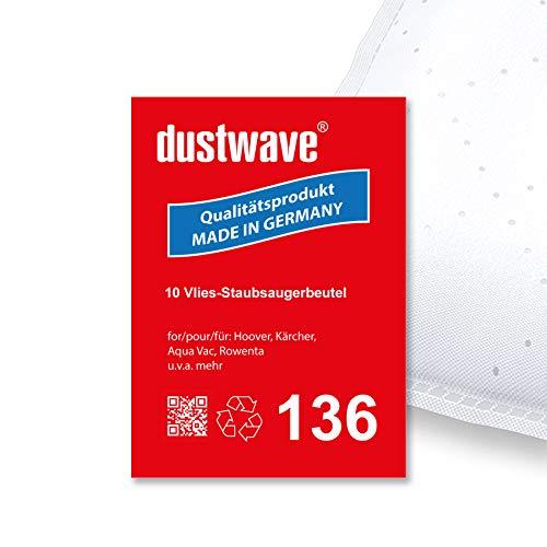 10 Staubsaugerbeutel | Staubsack (ca. 20 L) geeignet für Rowenta - RB 818 von dustwave® Microvlies-Markenstaubbeutel - Made in Germany