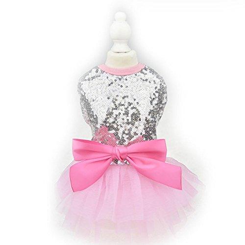 y Schleife Kleid Tutu Rock Luxus Hunde Katze Prinzessin Hochzeit Party Kleid Sommer Hund Chihuahua Kleidung ()