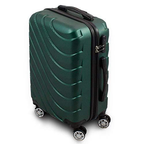 Trolley Hartschalen Koffer Hartschalenkoffer Hardcase Größe M - Modell Wave 2018 (Grün)