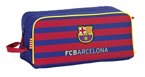 Safta FC Barcelona Zapatillero, 34 x 15 x 18 cm, Color Azul Marino