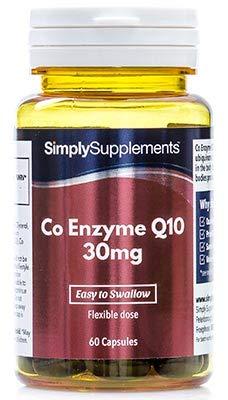 """Koenzym Q10 30mg - 120 Kapseln (2 Behälter á 60 Kapseln) - Versorgung für bis zu 4 Monaten - Im Volksmund als""""Zündkerze"""" des Körpers bekannt - Simply Supplements"""