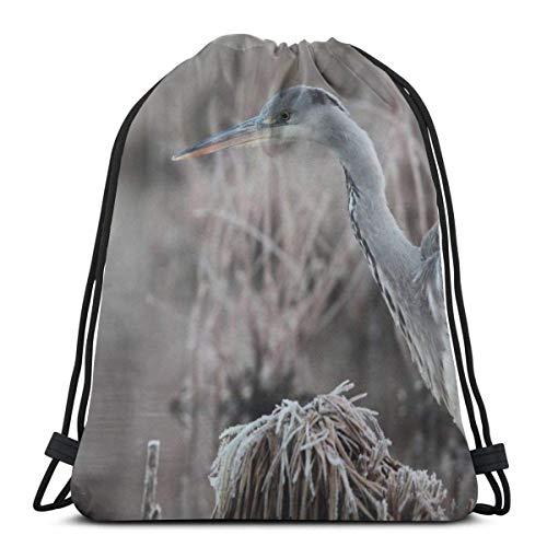 Cap pillow Bird White Swan Swimming Lake 4k Custom Drawstring Shoulder Bags Gym Bag Travel Backpack Lightweight Gym for Man Women 16.9