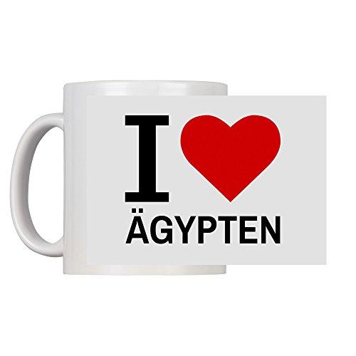 Tasse Classic I Love Ägypten weiß