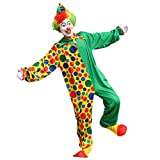 Haobing Unisex Clown-Kostüm Fasching Halloween Karneval Kostüm Cosplay Maskerade Fancy Dress (ZC-020, CN 4XL)