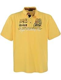 Lavecchia Classico Polo Tee Shirt - pour homme - grande taille - Coton - Jaune
