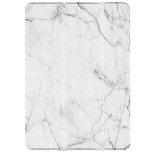 -Schlank, Leicht Smart Cover Ständer, Hard Shell zurück Schutz mit Auto Sleep Wake für Apple iPad Air 1(Marmor Weiß) ()