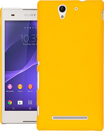 Cubix® XPERIA C3 DUAL Case, Super Slim Hard Back Cover for SONY XPERIA C3 DUAL Yellow  available at amazon for Rs.199