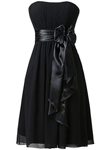 Azbro Women's Strapless Cocktail Party Bridesmaid Dress with Bowknot Deep Purple