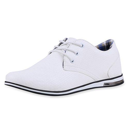 SCARPE VITA Klassische Herren Business Schnürer Modische Anzug Schuhe 165458 Weiss 45