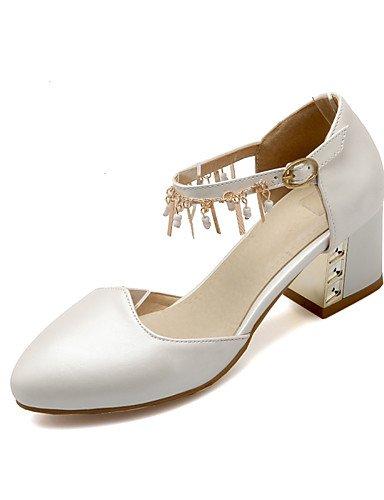 WSS 2016 Chaussures Femme-Bureau & Travail / Décontracté-Bleu / Rose / Blanc-Gros Talon-Confort / Bout Arrondi-Talons-Polyuréthane blue-us6 / eu36 / uk4 / cn36