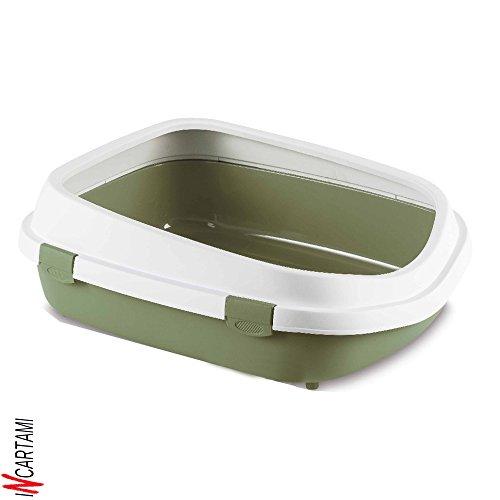 Stefanplast 4-96852 WC Gatos Queen, 55 x 24.5 x 71 cm, Color Blanco y Verde Pastel