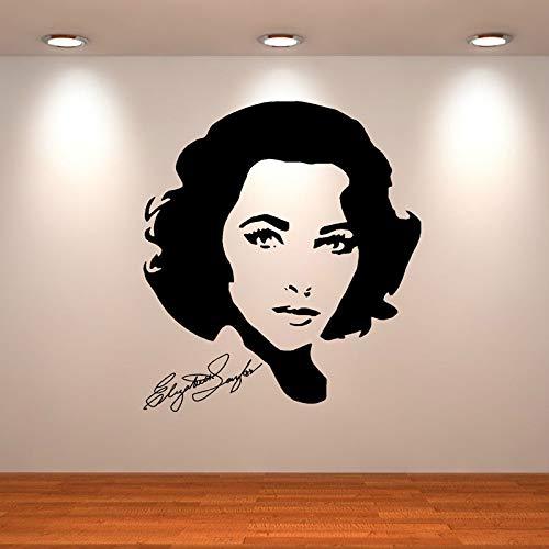 yiyiyaya Filmstar Wandtattoo Hollywood Schauspielerin Wanddekoration Promi-Symbol Wandkunst Schauspielerin Sänger VinylWandtattoo 57 * 64cm (Aus Halloween Schauspielerin)