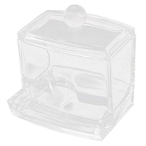 sourcingmap Acryl Baumwolle Tupfer Lippenstift Lagerung Halter Schmuck Box Klar Abdeckung