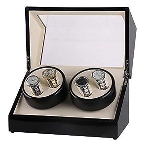 Big seller Uhrenbeweger 4 Uhrenbeweger Automatischer Uhrenbeweger Handgefertigter Holzkoffer